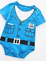 cheap -Baby Unisex Basic Daily / Holiday Print Short sleeves Cotton Bodysuit