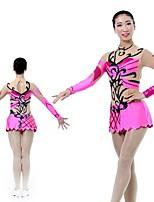 abordables -Femme Justaucorps de Gymnastique Manches Longues Élastique / Chinlon / Fil élastique Danse