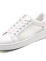 economico -Per uomo Scarpe Tulle Estate Comoda Sneakers Bianco / Bianco / nero