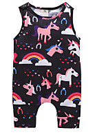 cheap -Baby Girls' Basic Print / Rainbow Print Sleeveless Cotton / Polyester Romper / Toddler