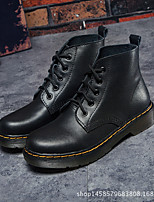cheap -Women's Shoes Leather Fall & Winter Combat Boots Boots Chunky Heel Booties / Ankle Boots Black / Wine