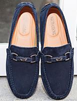 abordables -Homme Chaussures Cuir Nubuck Printemps Confort Mocassins et Chaussons+D6148 Bleu de minuit / Gris / Kaki