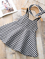 cheap -Toddler Girls' Black & White Check Sleeveless Dress