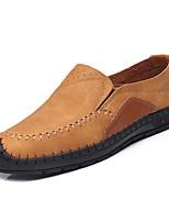 Недорогие -Муж. обувь Искусственное волокно Лето Удобная обувь Мокасины и Свитер для на открытом воздухе Черный Желтый Хаки