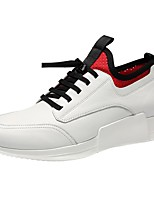cheap -Men's Shoes Leather Fall Comfort Sneakers White