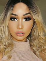 cheap -Synthetic Wig Wavy Middle Part Synthetic Hair Ombre Hair Ombre Wig Women's Mid Length Capless