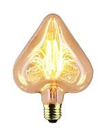 abordables -1pc 40W E26 / E27 Etoile Jaune chaud 2000k Rayures / Décorative Ampoule incandescente Edison Vintage 220-240V