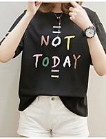 cheap -Women's Business / Vintage T-shirt - Solid Colored Black & White, Tassel