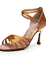 cheap -Women's Latin Shoes Silk Heel Slim High Heel Dance Shoes Black / khaki / Performance / Practice