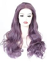 abordables -Perruque Lace Front Synthétique Ondulé Partie médiane Résistant à la chaleur Glueless Mode Synthétique Homme Violet Femme Dentelle