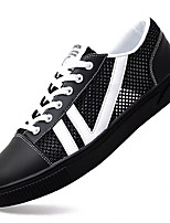 cheap -Men's Shoes Tulle Summer Comfort Sneakers White / Black / Red