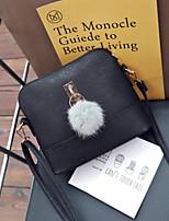 cheap -Women's Bags PU Shoulder Bag Zipper / Pom-pom Black / Gray