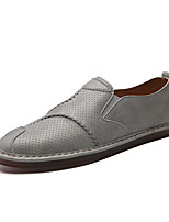 cheap -Men's Shoes Leatherette Summer Comfort Loafers & Slip-Ons for Office & Career Outdoor White Black Gray Brown