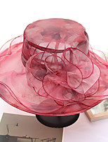 abordables -Femme Mignon Chapeau de soleil - Maille, Arc-en-ciel