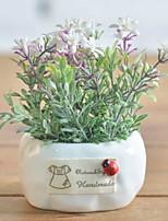 abordables -Fleurs artificielles 1 Une succursale Rustique Campanule Fleur de Table