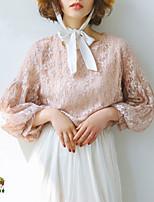 Недорогие -Жен. Кружева Блуза Классический Однотонный