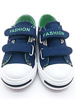 abordables -Garçon Chaussures Toile Printemps été Confort Basket pour De plein air Noir Bleu de minuit