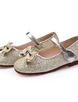preiswerte -Mädchen Schuhe PU Frühling Herbst Schuhe für das Blumenmädchen Flache Schuhe Schleife Paillette Klettverschluss für Geburtstag Party &
