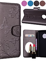 cheap -Case For Motorola MOTO G5 MOTO G5 Plus Card Holder Flip Pattern Full Body Cases Solid Colored Butterfly Hard PU Leather for MOTO G6 Moto
