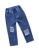 cheap -Toddler Girls' Solid Colored Sleeveless Jeans