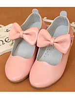 Недорогие -Девочки Обувь Кожа Осень Детская праздничная обувь / Удобная обувь На плокой подошве для на открытом воздухе Белый / Черный / Розовый