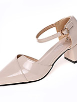 cheap -Women's Shoes PU(Polyurethane) Summer Comfort Heels Chunky Heel Pointed Toe Beige / Pink