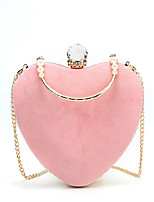 cheap -Women's Bags Velvet Evening Bag Crystals for Wedding / Event / Party Red / Blushing Pink / Light Gray