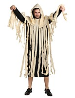 cheap -Ghost / Zombie Outfits Unisex Halloween / Carnival / Day of the Dead Festival / Holiday Halloween Costumes Black Solid Colored / Damask /