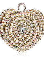 cheap -Women's Bags Pearl / Rhinestones Evening Bag Crystals / Pearls for Wedding / Event / Party Gold / Black