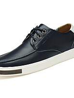 cheap -Men's Shoes Cowhide Spring Comfort Sneakers Black / Blue