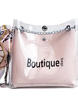 cheap -Women's Bags PVC Bag Set Zipper for Casual Black / Blushing Pink / Brown