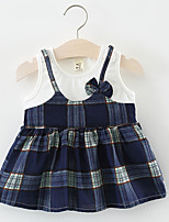 cheap -Kids Girls' Plaid Sleeveless Dress