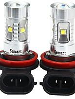 cheap -SENCART 2pcs H11 Car / Motorcycle Light Bulbs 30W SMD LED 1800-2100lm 6 LED Fog Light For universal All years
