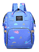cheap -Women's Bags Canvas Backpack Pattern / Print Blue / Black / Red