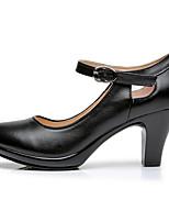 Недорогие -Жен. Обувь для модерна Кожа На каблуках на открытом воздухе На шпильке Танцевальная обувь Черный
