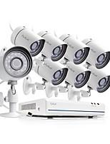 Недорогие -funlux® 8ch 1080p hdmi nvr упрощенная система 8x 720p hd наружная / комнатная система безопасности