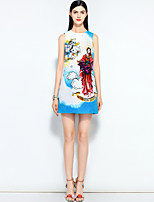 cheap -MARY YAN&YU Women's Street chic A Line Dress - Floral Beaded