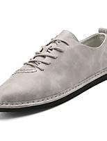 economico -Per uomo Scarpe PU (Poliuretano) Primavera & Autunno Suole leggere Sneakers Nero / Grigio / Cachi