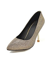 cheap -Women's Shoes Paillette Spring Comfort Heels Stiletto Heel Pointed Toe Sequin Gold / Black / Party & Evening