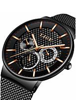 baratos -Homens Quartzo Relógio de Pulso Japanês Calendário / Cronógrafo / Impermeável / Mostrador Grande / Noctilucente Lega Banda Luxo / Fashion