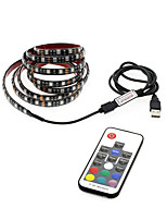 cheap -1m RGB Strip Lights 30 LEDs 17-Key Remote Controller RGB USB / Waterproof / TV Background USB Powered 1set