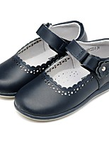 cheap -Girls' Shoes Leather Spring & Fall Comfort Flats Magic Tape for Kids / Toddler Dark Blue / Party & Evening