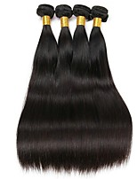 cheap -Malaysian Hair Straight Human Hair Weaves 50g x 4 Hot Sale Extention Natural Color Hair Weaves Human Hair Extensions All Christmas Gifts