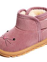 Недорогие -Девочки Обувь Полиуретан Наступила зима Удобная обувь / Модная обувь Ботинки для Пурпурный / Коричневый / Розовый