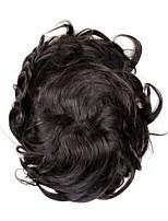 cheap -Men's Human Hair Toupees Wavy 100% Hand Tied / Man Weave / Hot Sale