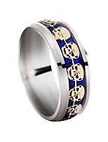 cheap -Men's Skull Band Ring - 1 Circle Classic / Rock Silver Ring For Daily / Evening Party