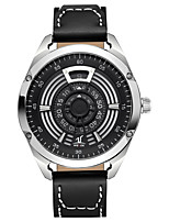 cheap -WEIDE Men's Dress Watch Japanese Water Resistant / Water Proof / Creative / Large Dial Genuine Leather Band Luxury / Fashion Black / Brown