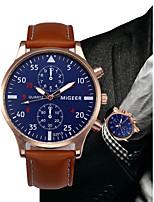 Недорогие -Муж. Кварцевый Нарядные часы Китайский Секундомер Кожа Группа минималист / Мода Черный / Синий / Коричневый