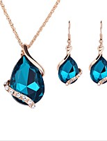 cheap -Women's Jewelry Set - Gold Plated Simple, Lovely, Fashion Include Choker Necklace / Pendant Necklace / Bridal Jewelry Sets Green For Wedding / Evening Party
