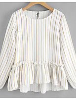 cheap -women's t-shirt - striped round neck